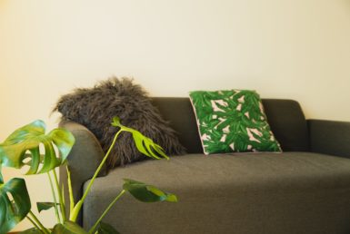 cozy sofa with cushions great to hear a resident perspective